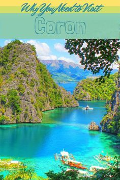 The Philippines is paradise on earth, and Coron is no exception. Check out the colour of that water!