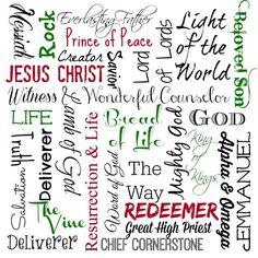 Names of Jesus Subway Free Printable! Plus check out the other great printables for Thanksgiving & Christmas! Names of Jesus Subway Free Printable! Plus check out the other great printables for Thanksgiving & Christmas! Christmas Quotes, Great Christmas Gifts, Christmas Crafts, Christmas Subway Art, Christmas Decorations, Xmas, Christmas Activities, Christmas Printables, Names Of God