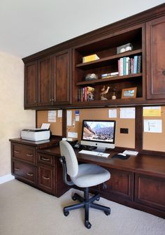 office built-ins (and cork board)