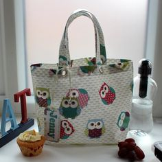 Olly Owl Oilcloth Lunch Bag with Personalised Name by lynnegold, £14.75