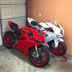 Double Trouble | www.facebook.com/GarvsMeanMachine #Ducati #1299 #Panigale #MVAgusta #F3 |
