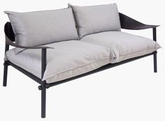 The simplistic structure of this sofa from outdoor experts Emu is given an elegant touch with synthetic leather, coated polyester and foam, for a water resistant yet durable finish Sofa Design, Sofa Set Designs, Furniture Design, Interior Design, Interior Garden, 2 Seater Sofa, Emu, Dream Home Design, Haciendas