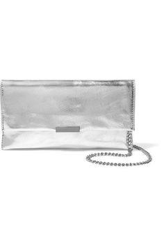 469265eb1712 Loeffler Randall - Metallic textured-leather clutch