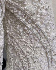 custom long sleeves with art deco details for a crystal embellished bridal style. #longsleeveweddingdress #embellishedweddinggown Popular Wedding Dresses, Bridal Wedding Dresses, Bridal Style, Classic Wedding Dress, Ball Gowns, Art Deco, Crystal, City, Long Sleeve