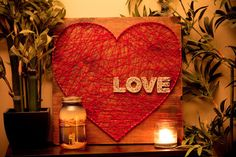 Show the Love String Art Heart by FORtheLOVEco on Etsy