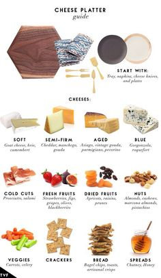 How to make a charcuterie board, cheese board ideas, hosting appetizers, at home happy hour Cheese Platter Board, Charcuterie And Cheese Board, Cheese Boards, Cheese Trays, Cheese Platter How To Make A, Meat Platter, Cheese Board Display, Cheese Party Platters, Cheese Fruit