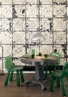 Scandinavian Wallpaper and Decor: The NLXL Collection  NLXL collection contains 23 uniqe designs of Brooklyn Tins, Scrapwood & Concrete wallpapers.