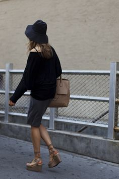 """""""Summer hats too often take on an overblown Kentucky Derby vibe that is a little off-putting. I like how this hat is sun effective and yet still city chic."""" -Scott Schuman   Jun 9, 2011 - On the Street…Houston St., New York « The Sartorialist"""