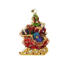 Christopher Radko Sleigh of Splendor Ornament ** Check out the image by visiting the link. #XmasOrnaments