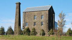 Bluestone treasure: The Old Mill at Mortlake has a 17m-high chimney.