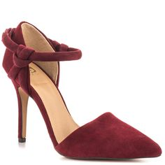 Hamilton - Burgundy Suede main view