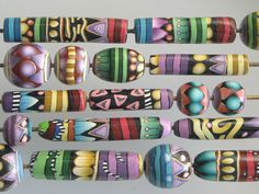 Don't you just love Dixie's color combinations? Color, shape, form...unlike anyone else in polymer clay.