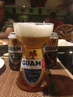 only thing better than GUAM beer is drinking it in a latte stone glass - Makeup Guam Tattoo, Island Food, Island Life, Guam Recipes, Tropical Beaches, Home Brewing, Latte, Meal Prep, Beer