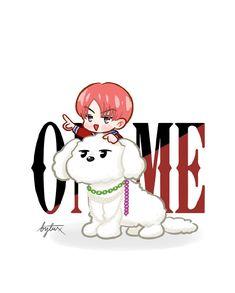 Kyungsoo, Chanyeol, Exo Fanart, Exo Stickers, Exo Anime, Exo Lockscreen, Chibi, Kitty, Kawaii