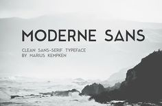 Moderne Sans is a free font inspired to 1920s typography. Designed and released by Marius Kempken.