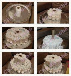 bolo de fraldas como fazer - Pesquisa Google