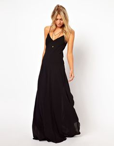 I like this black maxi sundress...thinking about possible trip to Hawaii this summer...this could work!
