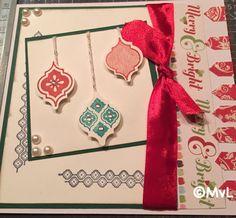 Kerstkaart met mosaic madness van SU