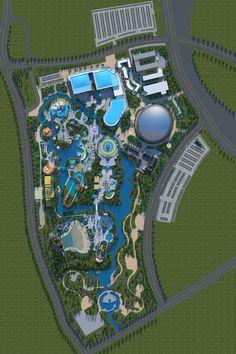 Planet Coaster, Eco City, Landscape Design Plans, Park Playground, Jurassic Park World, Parking Design, Plan Design, Amusement Park, Hotels And Resorts