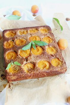 Apricot Einkorn Cake with Almond and Maple Syrup