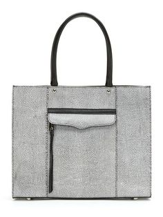 M.A.B Medium Lizard Embossed Leather Tote