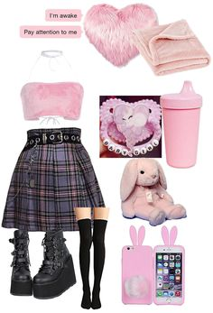 Cute Emo Outfits, Pastel Goth Outfits, Pastel Goth Fashion, Kawaii Fashion, Cute Fashion, Chic Outfits, Kpop Outfits, Fashion Outfits, Space Outfit