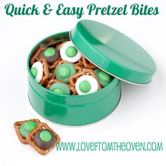 #StPatricksDay #Food #Foodie #Yummy #Recipe ♥ Quick & Easy Pretzel Bites by Love From The Oven