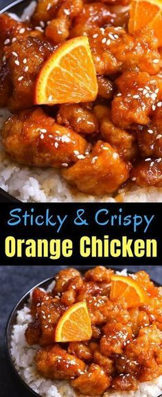 Spicy & Crispy Orange Chicken has crispy chunks of tender chicken covered in a tangy orange sauce. It makes a delicious weeknight dinner that's budget friendly and kid approved. So skip the takeout from Panda Express and try this orange chicken recipe! Comida China Chop Suey, Chinese Orange Chicken, Easy Orange Chicken, Panda Express Orange Chicken, Orange Chicken Sauce, Chicken Chunks, Crockpot Orange Chicken, Orange Panda, Orange Chicken Stir Fry