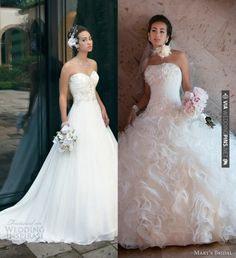 Our top 2 picks from Mary's Bridal Spring 2013 Wedding Dresses. @ | VIA #WEDDINGPINS.NET