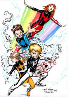 Power Pack - Drink'n'Draw by SpiderGuile on @DeviantArt