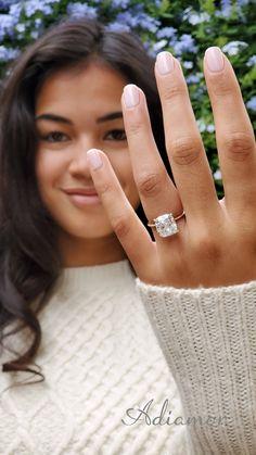 Square Wedding Rings, Square Diamond Rings, Square Engagement Rings, Engagement Rings Cushion, Dream Engagement Rings, Perfect Engagement Ring, Wedding Rings Solitaire, Cushion Cut Diamonds, Solitaire Cushion Cut