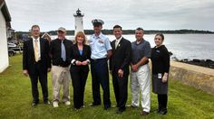 Thanks to everyone at Portsmouth Harbor Lighthouse in New Hampshire for a spectacular first day of issue stamp dedication ceremony! New England Lighthouses, Cape Elizabeth, New London, Portsmouth, New Hampshire, Newcastle, Coastal, Surfing, Stamp