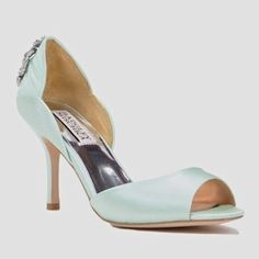 cffa5dd8d1e Badgley Mischka Wedding Shoes at Perfect Details. Hannah bridal shoes in  glacier