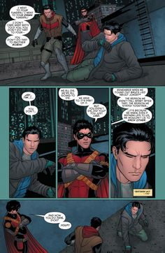 "Grayson #12 ""To your-"" brother Jay? Finally admiting he's yar brother Jaybird?"