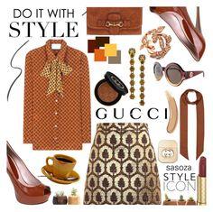 """""""Gucci by Sasoza"""" by sasooza ❤ liked on Polyvore featuring Gucci and Dot & Bo"""