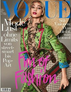 Yasmin Wijnaldum for Vogue Germany, August 2017