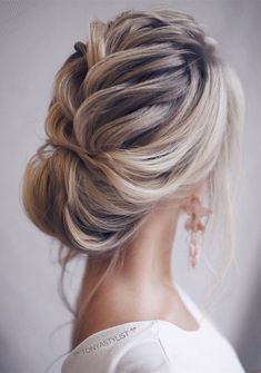 updo elegant wedding hairstyles for long hair #weddinghairstyles