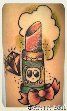 Lipstick tattoo Vorssa Ink