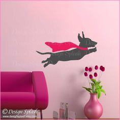 Dachshund Decal, Weiner Dog Sticker, Animal Wall Art, Dog Lover Gift A-117S by DesignSPLASH on Etsy https://www.etsy.com/listing/262771217/dachshund-decal-weiner-dog-sticker