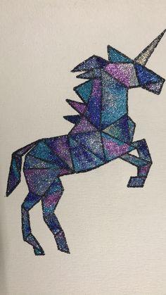 DIY Geometric Unicorn! #Glittercraze