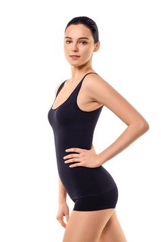 a9eceb04ddb MD Shapewear Tank Top Camisole Body Shaper And Sports Cami For Tummy And  Waist Medium Black   You can get more details by clicking on the image.