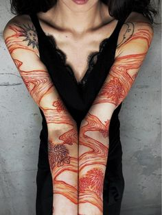 Tattoo by Haku Body Art Tattoos, New Tattoos, Sleeve Tattoos, Tatoos, Pretty Tattoos, Beautiful Tattoos, River Tattoo, Future Tattoos, Piercing Tattoo