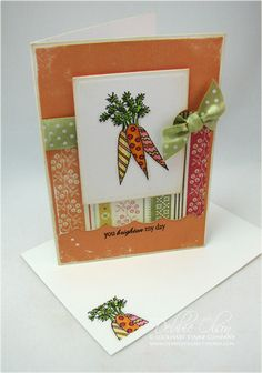 Organic Carrots, Anyone? Ink Stamps, Quick Cards, Distress Ink, My Stamp, Colorful Pictures, Card Sizes, Note Cards, Carrots, Envelope