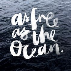 Free as the ocean. Pinterest / @T A S H