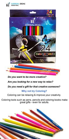 Coloring can help with relaxation and creativity. Coloring tools such as these colored pencils can be great gifts for creative minds.