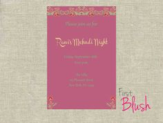 Mehndi Party Invites : Henna party invitation digital mehndi ceremony