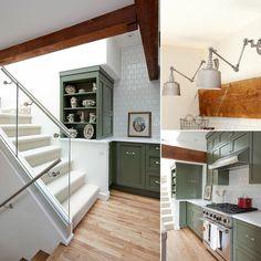 Green Kitchen Cabinets   POPSUGAR Home
