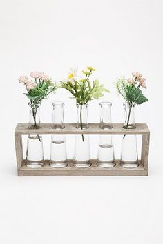 Laboratory Flower Vases. urban outfitters. $24. colored water in each? paint box?