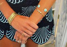 Lilly Pulitzer Delia Scalloped Hem Shift Dress with @baublebar bracelets