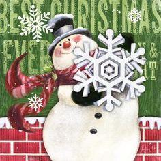 Brick Snowmen-Snowflake By Geoff Allen